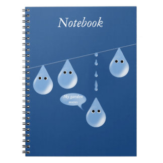 Cuaderno Gotitas de agua en una línea