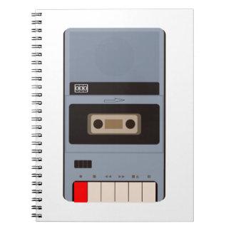 Cuaderno Grabadora del casete