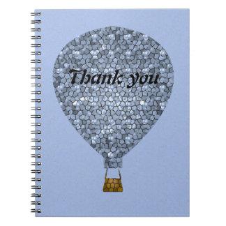 Cuaderno Gracias reunión del globo del aire caliente del