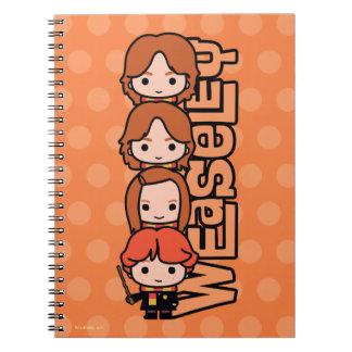 Cuaderno Gráfico de Weasley Siblilings del dibujo animado
