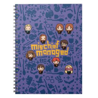 """Cuaderno Gráfico manejado """"travesura"""" del dibujo animado"""