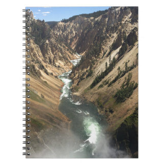 Cuaderno Gran Cañón en el parque de Yellowstone