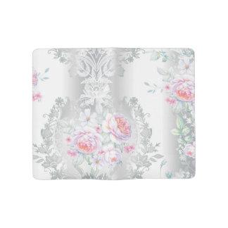 Cuaderno Grande Moleskine hermoso, de seda, damasco, rosa, rosas, vintage,