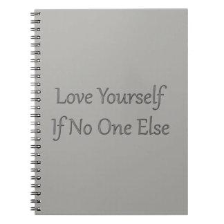 Cuaderno gris del amor usted mismo