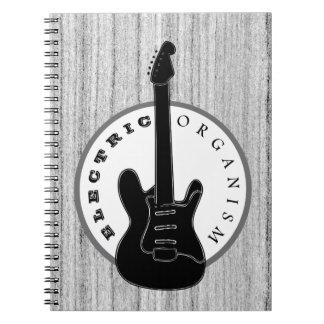 Cuaderno Gris fresco de madera del organismo de la música
