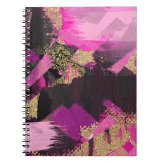 Cuaderno Grunge moderno del encanto del cepillo del