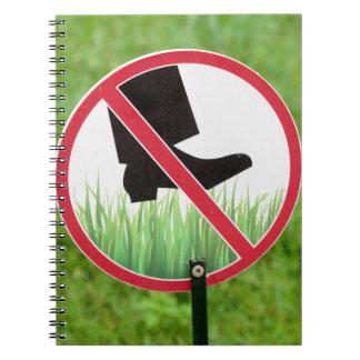 Cuaderno Guarde de la muestra de la hierba