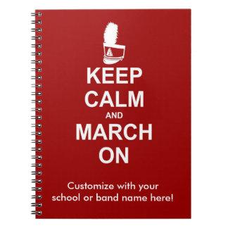 Cuaderno Guarde la calma y marzo en el personalizado del |