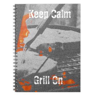Cuaderno Guarde la parrilla tranquila encendido