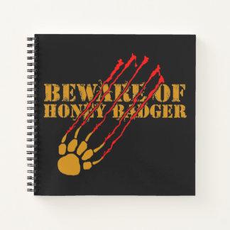 Cuaderno Guárdese de tejón de miel