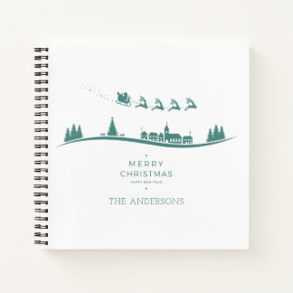 Cuaderno Guestbook mínimo simple del navidad de Papá Noel