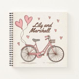 Cuaderno Guestbook personalizado de los corazones de la