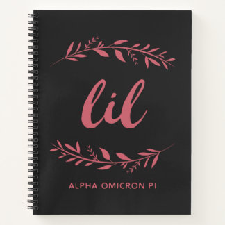 Cuaderno Guirnalda alfa de Omicron pi Lil