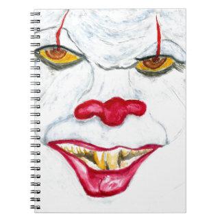 Cuaderno Halloween Clown2 asustadizo