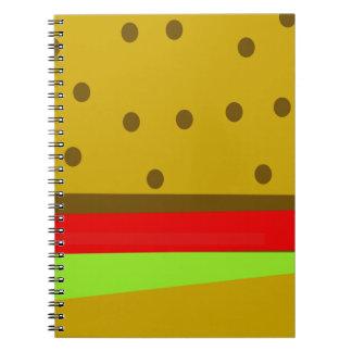 Cuaderno Hamburguesa de los alimentos de preparación rápida