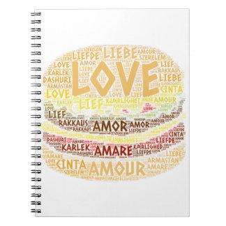Cuaderno Hamburguesa ilustrada con palabra del amor