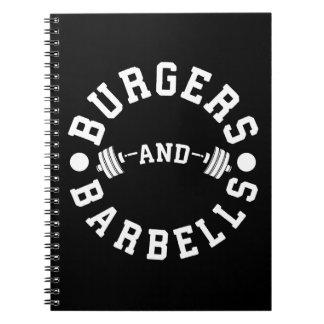 Cuaderno Hamburguesas y Barbells - entrenamiento divertido