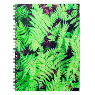 Cuaderno Helechos verdes vibrantes