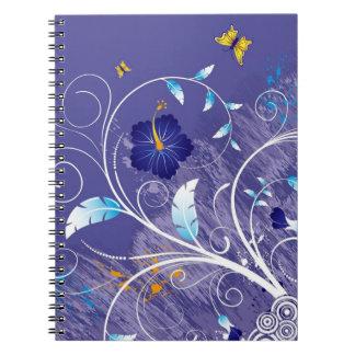Cuaderno Hibisco. Remolinos y mariposa