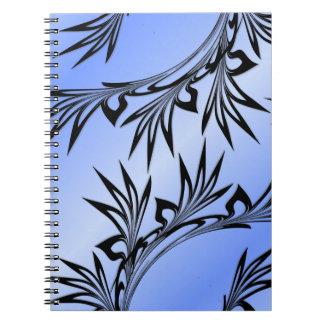 Cuaderno Hoja enrollada en azul