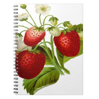 Cuaderno Hojas frondosas de la hoja de la fruta de la