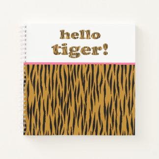 Cuaderno ¡Hola tigre! Cita Tigerprint de la diversión