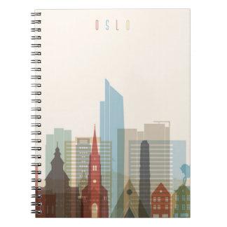 Cuaderno Horizonte de la ciudad de Oslo, Noruega el |