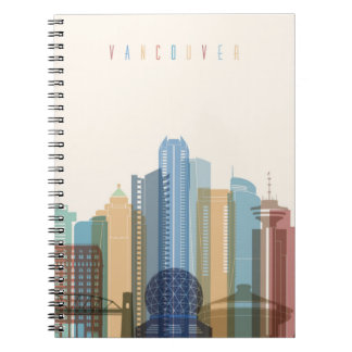 Cuaderno Horizonte de la ciudad de Vancouver, Canadá el |