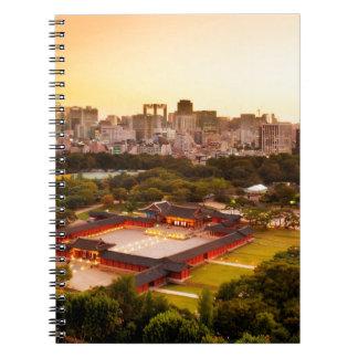 Cuaderno Horizonte de la Corea del Sur de Seul