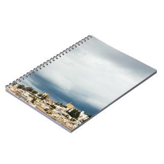 Cuaderno Horizonte de la parte histórica de una ciudad en