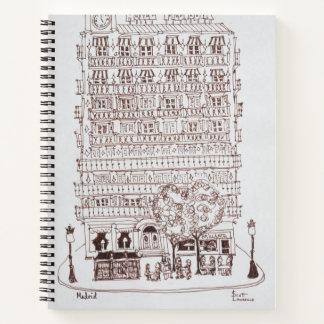 Cuaderno Hotel Mediodia, Madrid, España