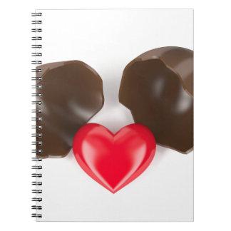 Cuaderno Huevo y corazón de chocolate