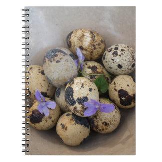 Cuaderno Huevos de codornices y flores 7533