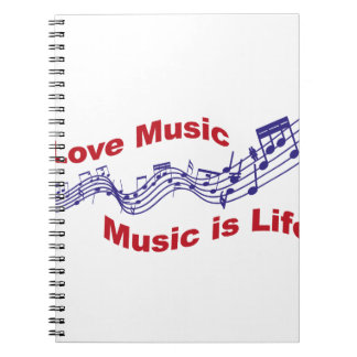 Cuaderno I love music Music is life