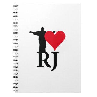 Cuaderno I Love Rio de Janerio Brazil Series