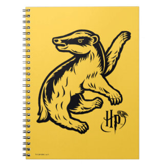 Cuaderno Icono del tejón de Harry Potter el   Hufflepuff