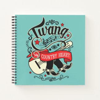 Cuaderno ID464 rojo/negro del sonido vibrante del país