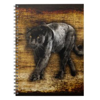 Cuaderno Ilustraciones de acecho de la pantera negra