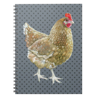 Cuaderno ilustrado del pollo del lunar