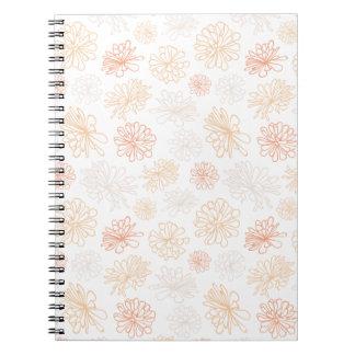 Cuaderno Impresión botánica del jardín suculento del
