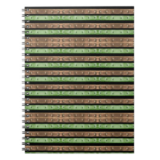 Cuaderno Impresión de las rayas de Camo