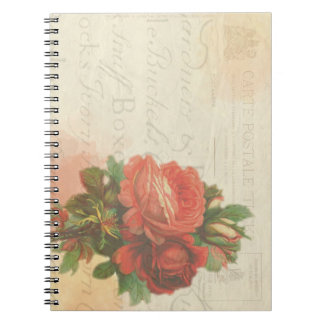 Cuaderno inmóvil subió vintage