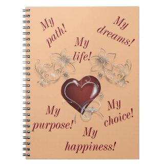 Cuaderno inspirado - sea usted