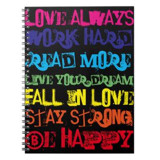 Cuaderno inspirador de las citas