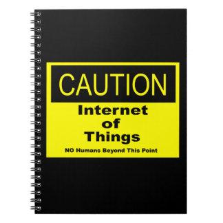 Cuaderno Internet de la señal de peligro de la precaución
