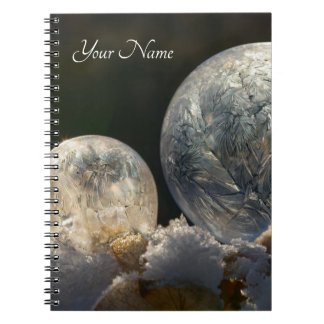 Cuaderno Invierno fresco congelado del cristal de hielo de