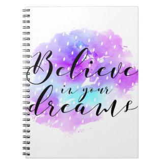Cuaderno La acuarela cree en su cita de los sueños