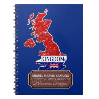 Cuaderno La bandera de la isla de UK/England colorea el