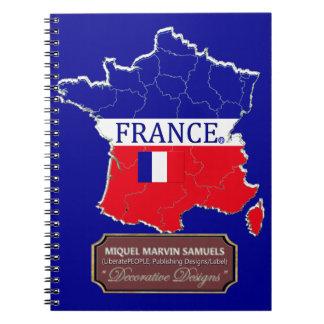 Cuaderno La bandera del esquema del país de Francia colorea