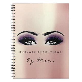 Cuaderno La extensión de los latigazos observa la violeta